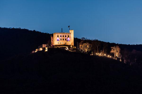 Abenddämmerung am Hambacher Schloss