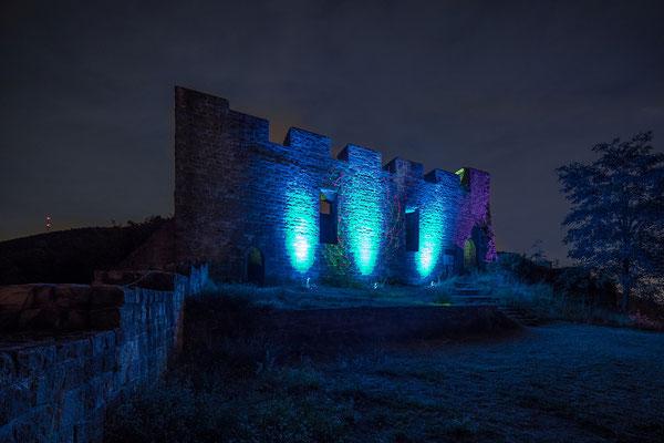 Burgenleuchten auf der Ruine Wolfsburg