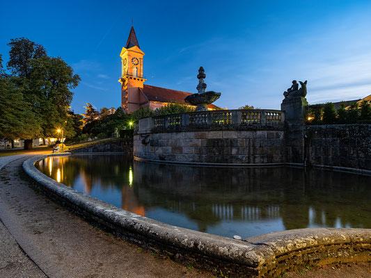 Blaue Stunde in Bad Dürkheim