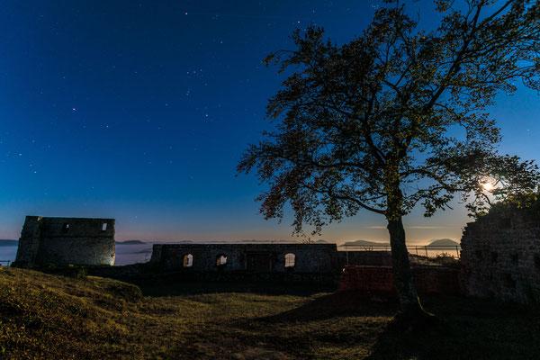 Vollmondnacht auf der Ruine Lindelbrunn