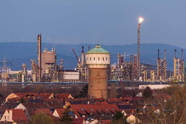 Dämmerung über der BASF
