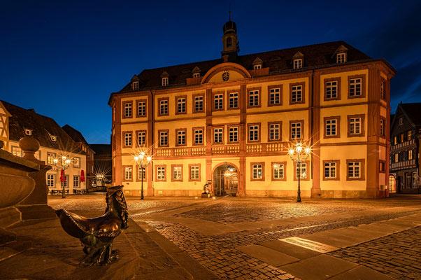 Blaue Stunde am Neustadter Marktplatz