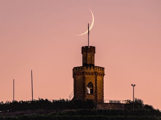Mondsichel am Flaggenturm