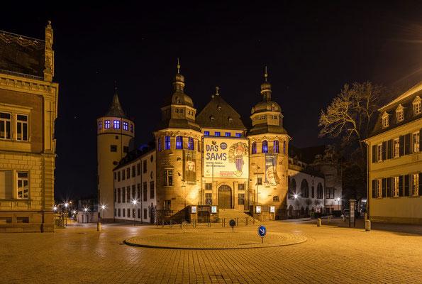 Historisches Museum Speyer bei Nacht