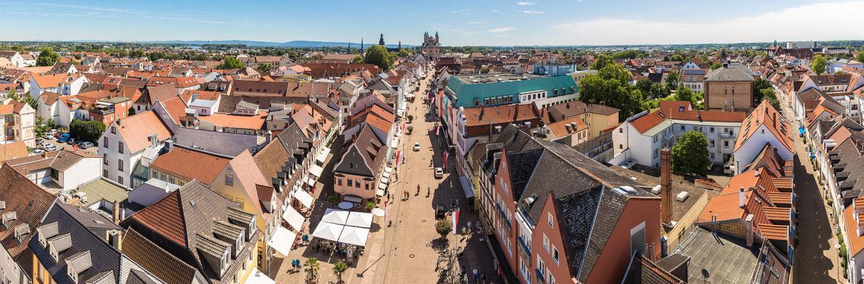 Blick vom Altpörtel über Speyer