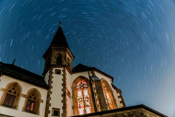 Langzeitbelichtung an der Annakapelle