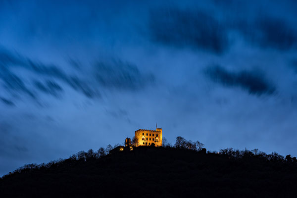 Blaue Stunde am Hambacher Schloss