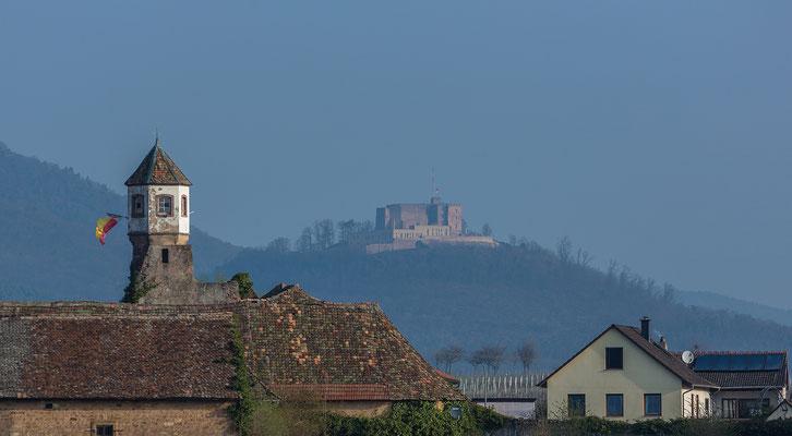 Blick auf Kloster Heilsbruck und Hambacher Schloss