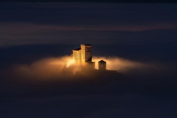 Abendliche Inversionswetterlage am Rehbergturm