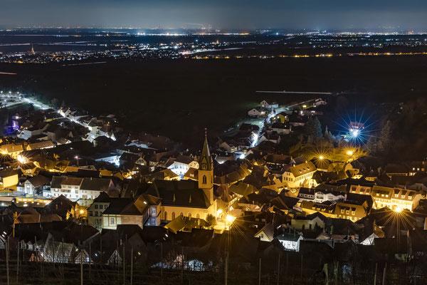 Nächtlicher Blick über Sankt Martin