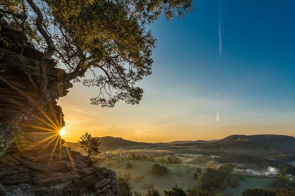 Sonnenaufgang am Sprinzelfels