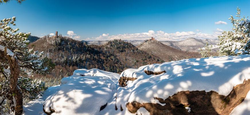 Prächtiger Wintertag am Slevogtfels