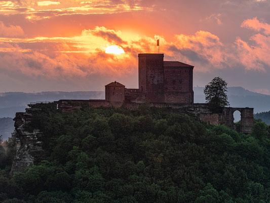 Sonnenuntergang am Slevogtfelsen