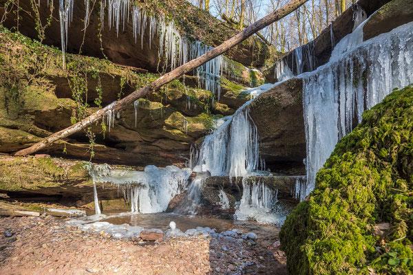 Eiskalter Februar in der Hexenklamm