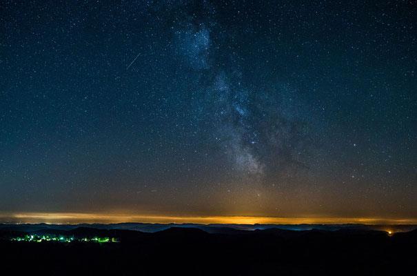 Herrlicher Sternenhimmel am Luitpoldturm