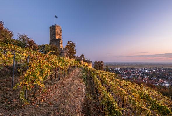 Wachtenburg kurz vor Sonnenaufgang