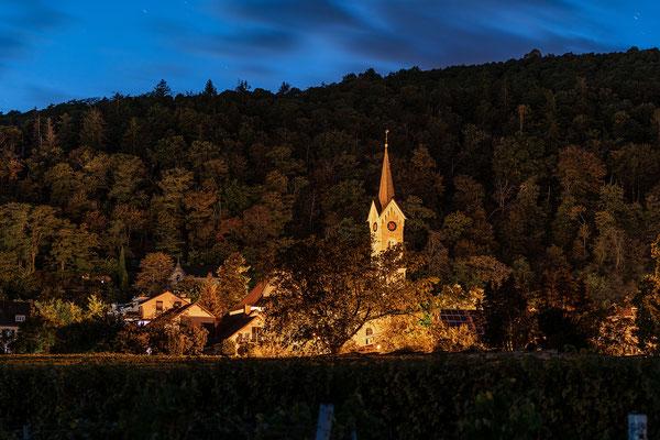 Haardter Kirche in der Blauen Stunde