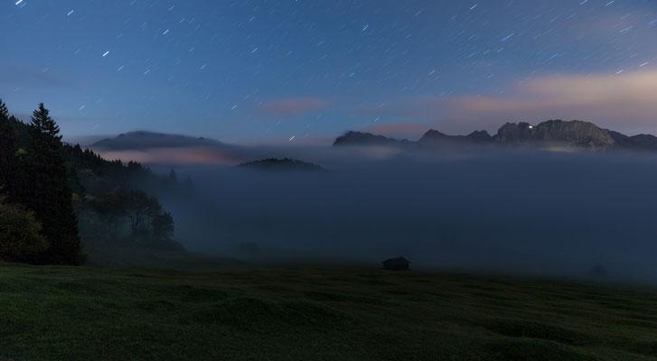 Nebelnacht am Geroldsee
