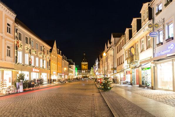 Weihnachstbeleuchtung in der Fußgängerzone