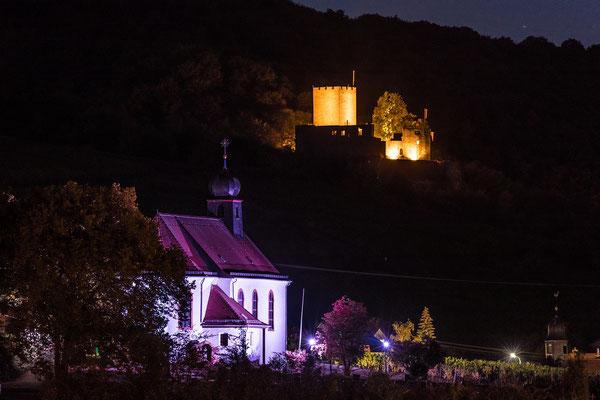 Dionysioskapelle und Burg Landeck