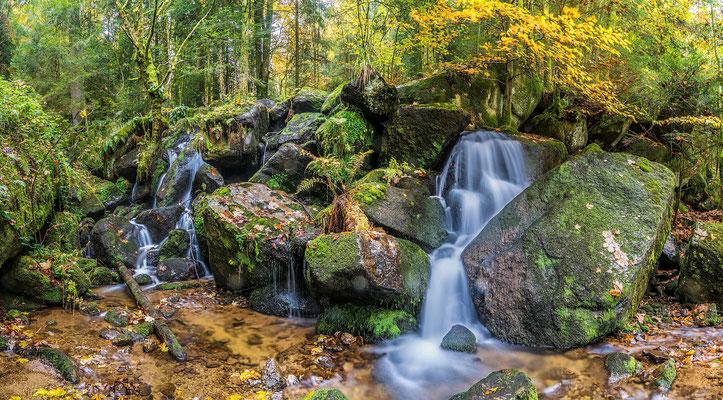 Wasserfall Gertelbachschlucht, 80 x 60cm, Alu-Dibond mit Fotopapier, Hängung: Aluminiumschiene, 130 €