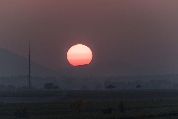 Sonnenuntergang bei Hochstadt