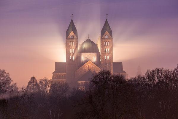 Speyerer Dom im Frühnebel