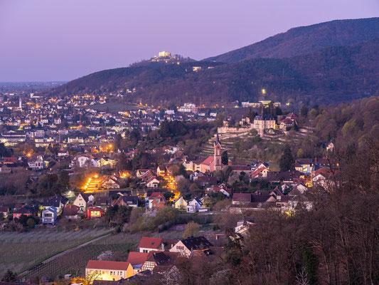 Blick vom Steinbruch auf Haardt und Neustadt
