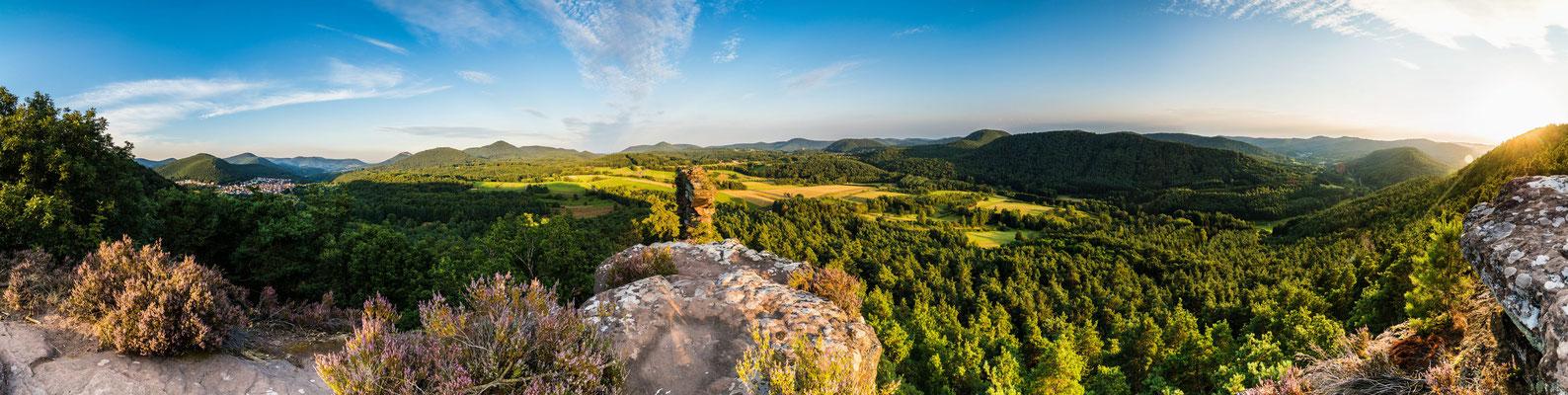 Ausblick vom Geierstein auf den Pfälzerwald