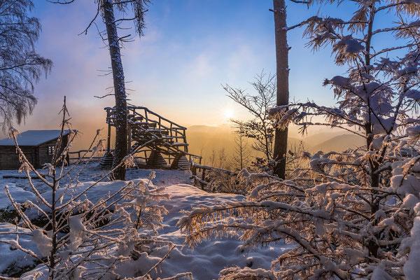 Sonnenaufgang am Kirschfelsen
