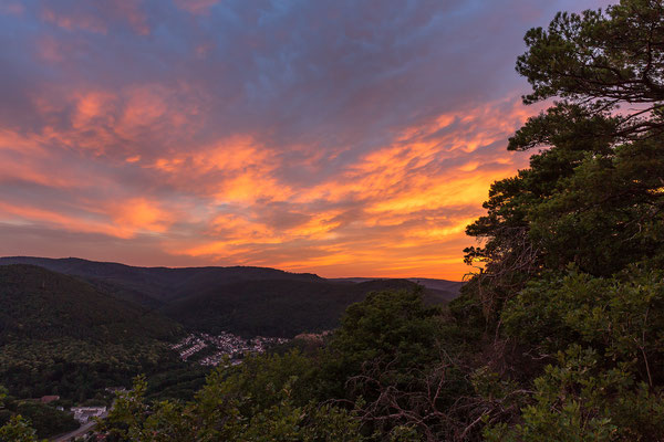 Sonnenuntergang am Bergstein