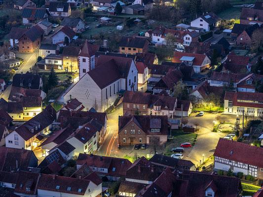 Nächtlicher Blick auf Wernersberg