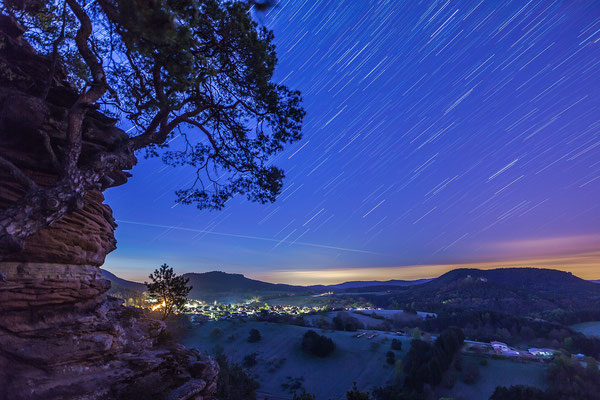 Startrails am Sprinzelfels