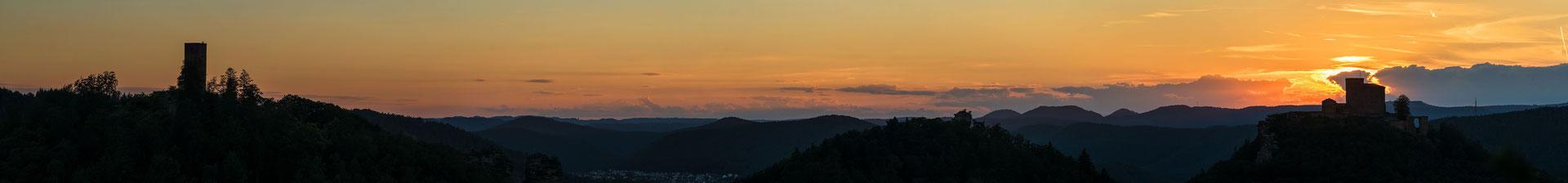 Sonnenuntergang am Slevogtfels