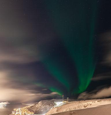 2 Stunden nach der Ankunft - erste Polarlichter auf dem Fjellheisen!!
