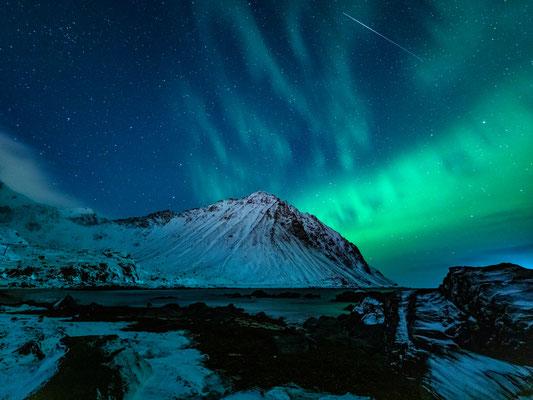 Polarlichter an Storsandnessstranden