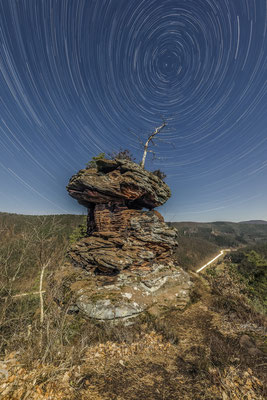 Startrails (Sternspuren) am Runden Hut