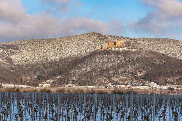 Hambacher Schloss im Winterkleid