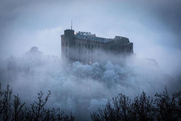 Hambacher Schloss im Nebel