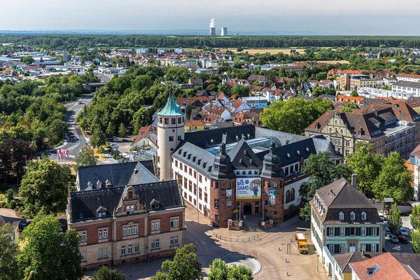Blick über Speyer vom Turm des Domes