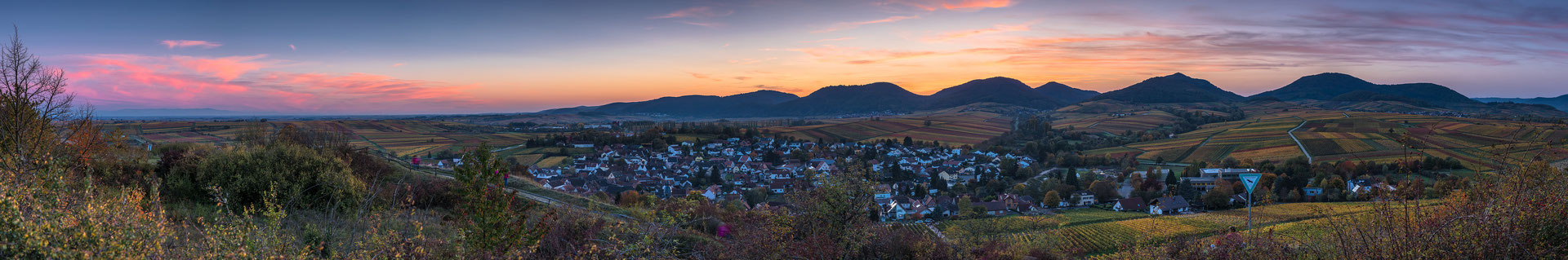Sonnenuntergang an der Kleinen Kalmit