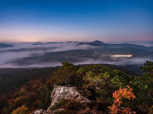 Nebelnacht am Buhlsteinpfeiler