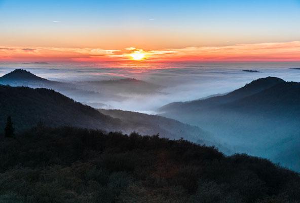Sonnenuntergang am Luitpoldturm