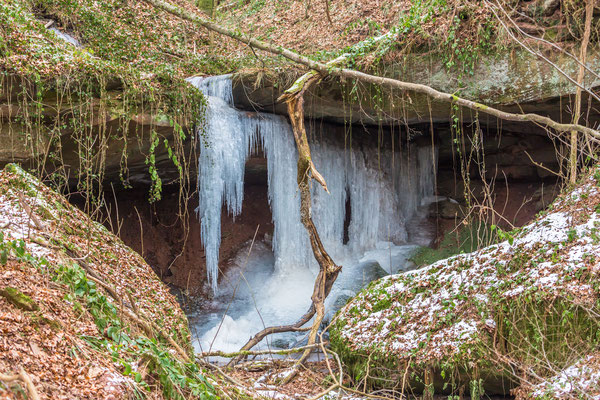 Eiswasserfall in der Hexenklamm