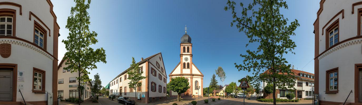 360°-Panorama von Hagenbach