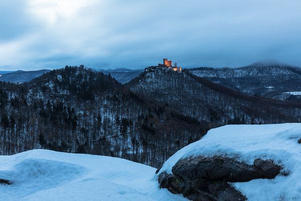 Winterstimmung am Slevogtfelsen