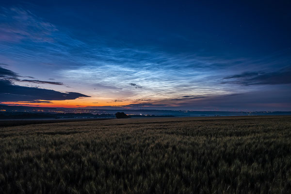 Seltenes Ereignis: Leuchtende Nachtwolken bei Hettenleidelheim