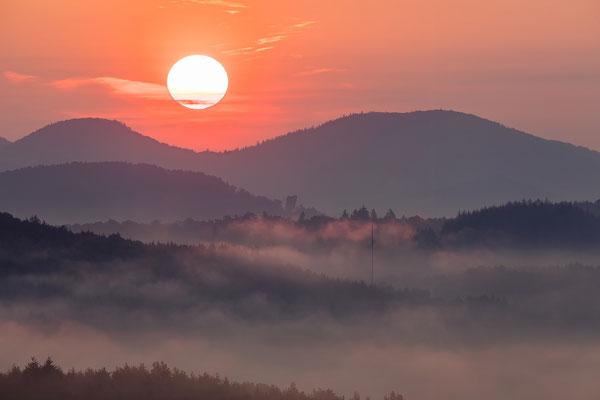 Sonnenaufgang am Schlüsselfels