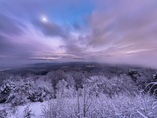 Winterliche Mondnacht auf der Kalmit