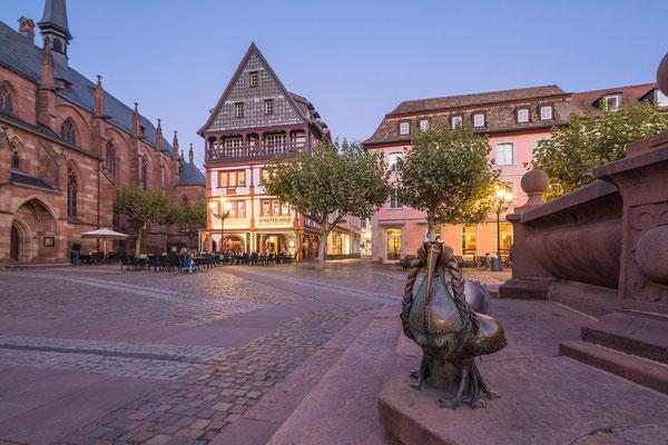 Marktplatz mit Elwetritsche in Neustadt